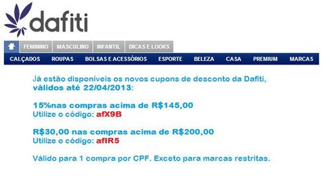 dafiti – CUPONS DE DESCONTO. | CHICS & FASHION | Scoop.it