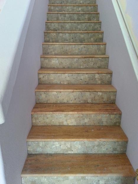 SF Bay Area Travertine Tile Stairs Trend In Phoenix | Popular Marble Limestone Travertine Tile Patterns | Scoop.it