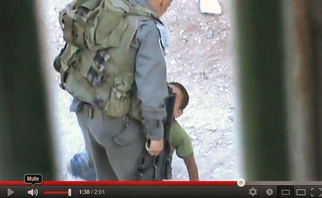 #VIDEO   Child Abuse   Palestinian child kicked by Israeli Border Police inHebron   Occupied Palestine   Scoop.it