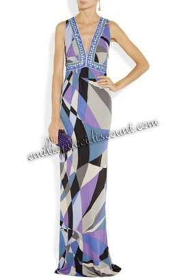Discount EMILIO PUCCI Purple Printed Jersey Gown [Purple Printed gown] - $207.99 : Emilio pucci dresses online outlet,discount pucci dresses on sale! | chic items | Scoop.it