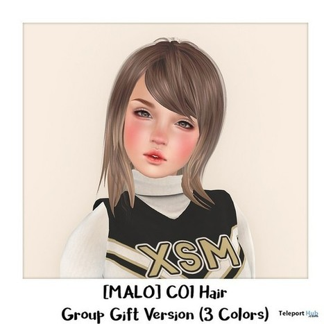 C01 Hair Group Gift by MALO | Teleport Hub - Second Life Freebies | Second Life Freebies | Scoop.it