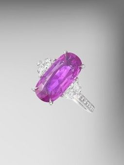 GIA Certified Pink Sapphire and Diamond Ring   FanPhobia - Celebrities Database   Tattos and Jewelry   Scoop.it