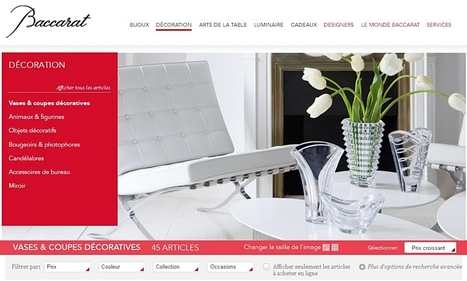 Baccarat lance son nouveau site e-commerce | e-biz | Scoop.it