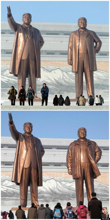 Une statue de Kim-Jong-il habillée pour l'hiver | Intervalles | Scoop.it