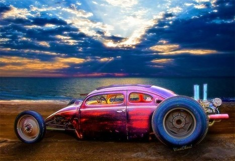 Vw Surf Monster At The Shore VivaChas Hot Rod Art and Gifts | VivaChas!  Hot Rod Art | Scoop.it