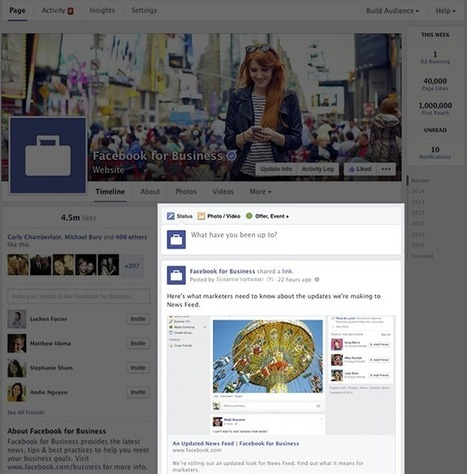 Nouveau design pour les Pages Facebook | Image Digitale | Scoop.it