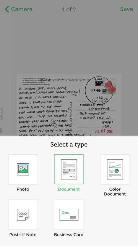 Evernote porte la fonction de scanner de Scannable sur son application iOS - iPhonologie.fr | Evernote, gestion de l'information numérique | Scoop.it