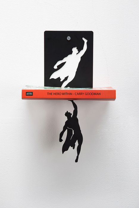 """Clever Superhero Bookends """"Save"""" Books from Falling 