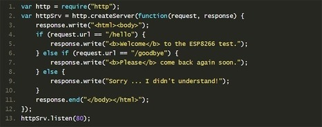 JavaScript for the ESP8266 - Hackaday | Arduino, Netduino, Rasperry Pi! | Scoop.it