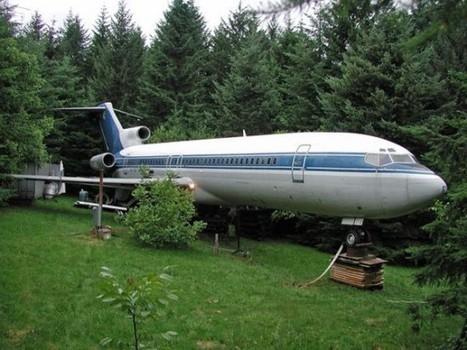 Man Turns 727 Passenger Plane into His Woodland Dream Home   Strange days indeed...   Scoop.it