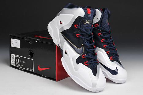 Nike LeBron 11 NikeiD White Navy for Sale | Nike Air Jordans | Scoop.it