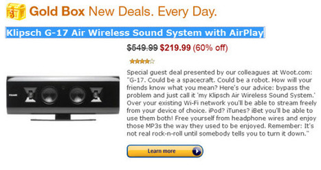[TOP BUY NOW] Klipsch G-17 Air Wireless Sound System with AirPlay | Free license for you | Amazon Hot deal | Scoop.it