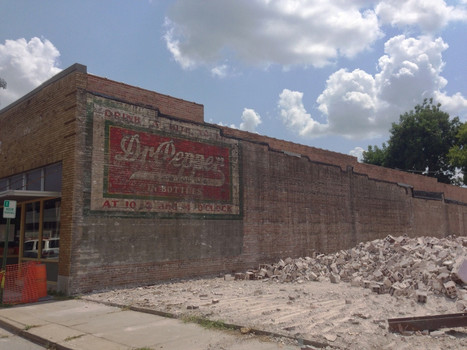 Old Dr. Pepper ad revealed after demolition in Little Rock, AR [1200x960](xpo... | Rebrn.com | Modern Ruins | Scoop.it