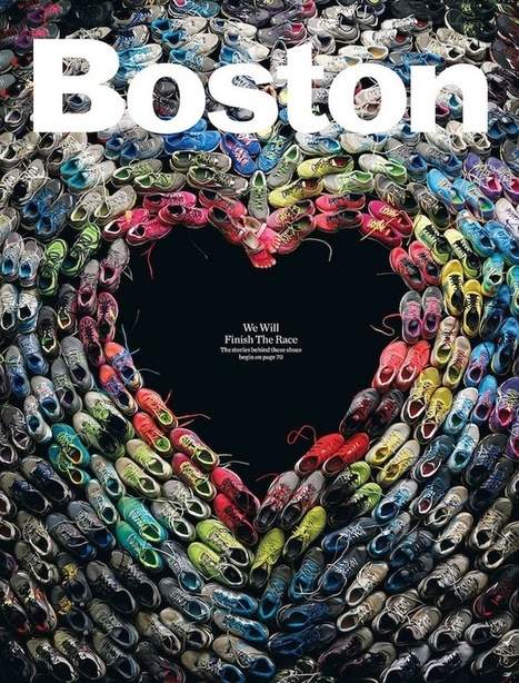 Boston Magazine's Inspiring Cover: Heart Made From Marathon Runners' Shoes - My Modern Metropolis | Le It e Amo ✪ | Scoop.it