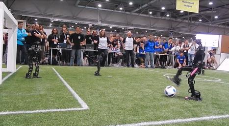 La France gagne la coupe du monde de foot des enfants humanoïdes - Tech - Numerama | Une nouvelle civilisation de Robots | Scoop.it
