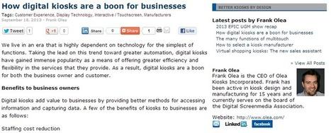 En quoi les bornes interactives sont une aubaine pour les commerçants – Frank Olea | La Minute Retail | Marketing digital - Innovation - Tendances - Commerces | Scoop.it