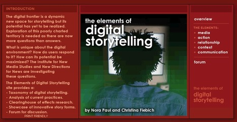 Digital Storytelling - the Elements | ePortfolios and open digital badges: Stories and tales to tell | Scoop.it