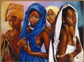 Arts Afrique: Très belle peinture de 3 femmes Africaines   Actions Panafricaines   Scoop.it