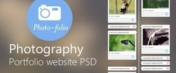 Photography Portfolio Website Template Design PSD from CSS Author - Freebie No: 55 | Website Design Template PSD | Scoop.it