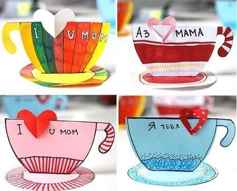 Поделка маме на 8 марта из бумаги - поделка чашка | ars | Scoop.it