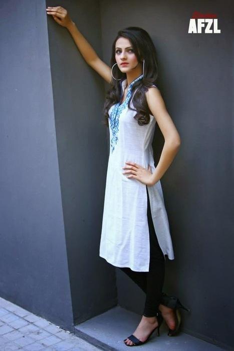 Kurta And Churidar Shalwar Collection For Girls By Ferozeh From Summer 2014 | Women Fashion | Women fashion | Scoop.it