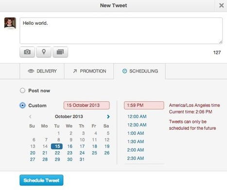 Twitter to roll out tweet scheduling, but is it that revolutionary? | Social Media On The Loose~ | Scoop.it