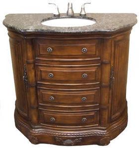 Large 42 inch width Vanity Cabinet Set with Verde Lavras Top, Walnut Finish (Haydon), #BRVA_S_HAYDON   Kitchen Online: Double Bowl Copper Kitchen Sinks  Copper Kitchen Sinks  Copper Kitchen Sink Texas   Scoop.it