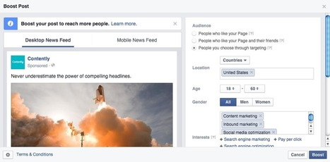 Distribution 101: The Content Marketer's Guide to Facebook Sponsored Posts   The Content Engine   Scoop.it