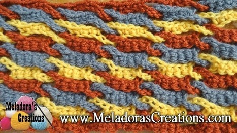 Single Weave and Link Stitch | Crochet | Scoop.it