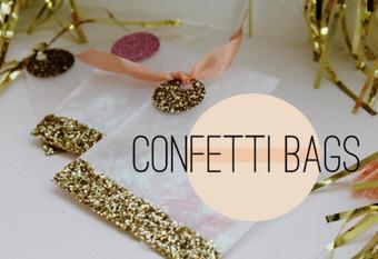 {DIY} Wedding Favor Glitter Confetti Bags | DIY WEDDINGS | Scoop.it