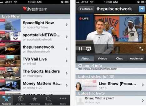 Livestream, servicio de vídeo en streaming, lanza nueva aplicación de iPhone | peoplewitness | Scoop.it