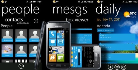 Official AndreasCY: WP7 skin for Samsung Galaxy S v4.5 | Daily Magazine | Scoop.it