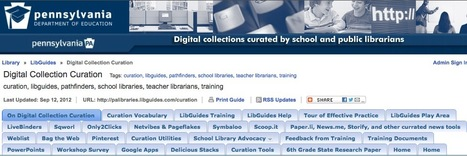 :: The Digital Content Curation Hub for Education at LibGuides :: | Information Economy | Scoop.it