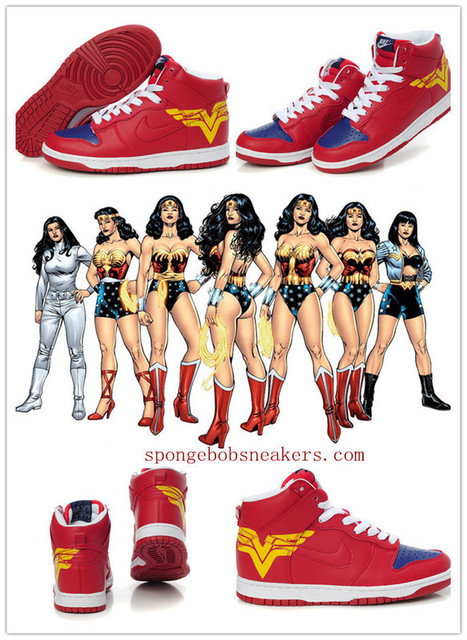 Sale Wonder Woman Sneakers Nike Dunks : Spongebob Sneakers | Custom Cartoon Dunks | Scoop.it