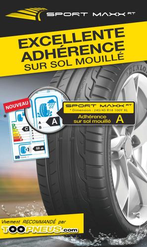 Etiquette-pneus.com :  Score A en freinage sur sol mouillé pour Dunlop Sport Maxx RT | pneus moins cher | Scoop.it