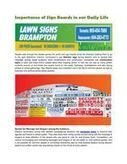 Importance of Sign Boards in our Daily Life | cheap lawn signs | Scoop.it