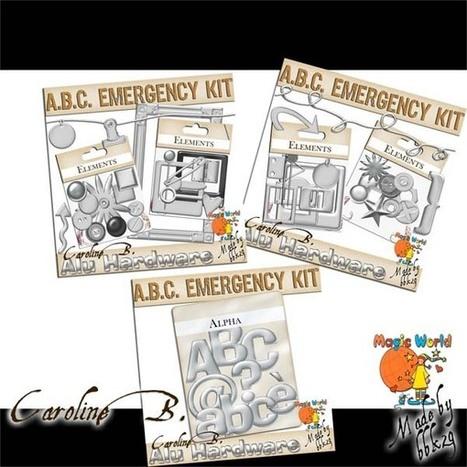 ABC Emergency Kit - Alu Pack - $6.12 : Caroline B., My Magic World of Digital Design | SCRAPBOOKING | Scoop.it