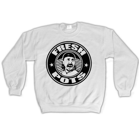 DAVE GROHL Fresh Pots Coffee Addict Sweatshirt Unisex humor Jumper Crewneck Queens of the Stone Age | Binary Options | Scoop.it