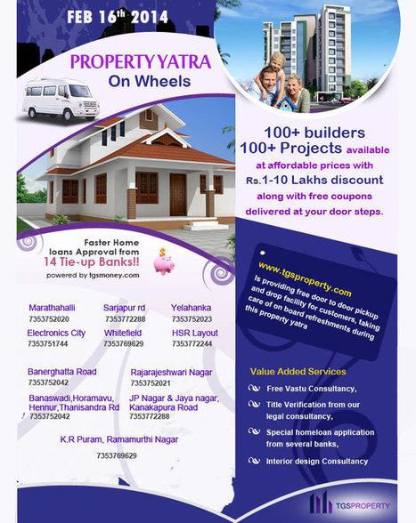 TGS Property Yatra on 16Feb14: Source to Buy New Flats / Apartments in Bangalore | Real Estate News | Scoop.it