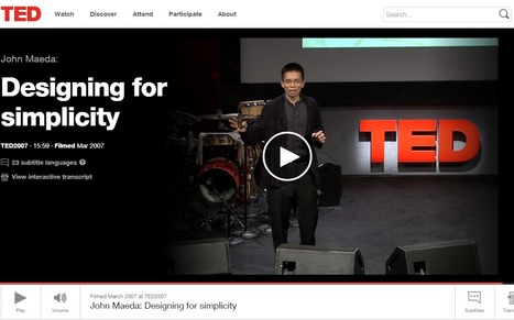 Designing for simplicity | TED video | Innovation x Design - I&S Lab | Scoop.it