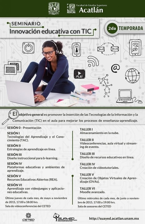 Seminario Innovación Educativa con TIC – 2a. temporada 2015 | SUAyED – FES Acatlán | Educacion, ecologia y TIC | Scoop.it