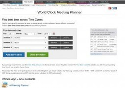 World Clock Meeting Planner - Knowledge Base for Web Tools | Social Media and Mobile Websites | Scoop.it