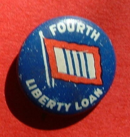1918 Original World War I FOURTH LIBERTY LOAN Bond support Allies mini pin button | Antiques & Vintage Collectibles | Scoop.it