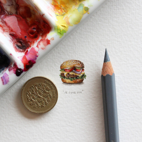 Postcards for Ants: A 365-Day Miniature Painting Project by Lorraine Loots | [Art] - artist's point of view, creative process &  interesting pieces | Scoop.it