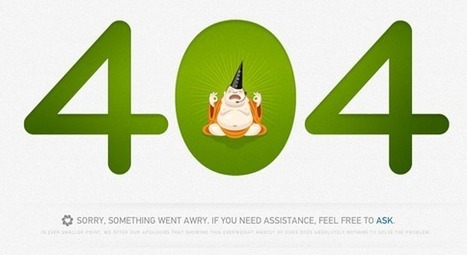 404 Error Pages With A Positive Impact | How to Design... | Scoop.it