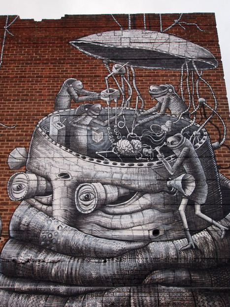 Phlegm, Robot, Sheffield - unurth | street art | Communication design | Scoop.it