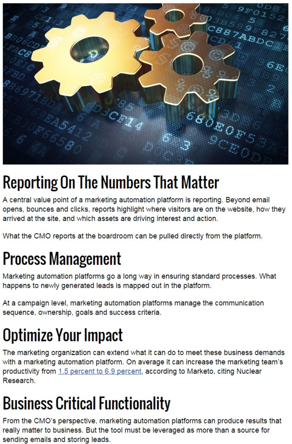 What Every CMO Should Know About Marketing Automation - Marketing Land | The Marketing Technology Alert | Scoop.it