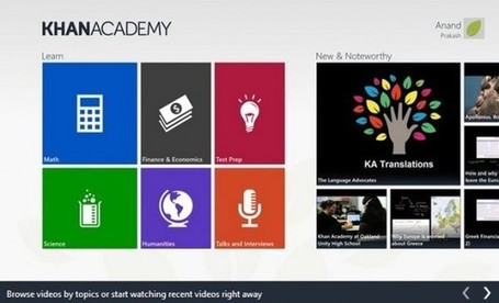 Llega aplicación oficial de la Khan Academy para Windows 8 | Bits on | Scoop.it