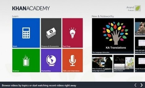 Llega aplicación oficial de la Khan Academy para Windows 8 | El Taller del Aprendiz | Scoop.it