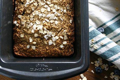 Recipes We Love: Vegan + Gluten-Free Blueberry Banana Bread | My Vegan recipes | Scoop.it